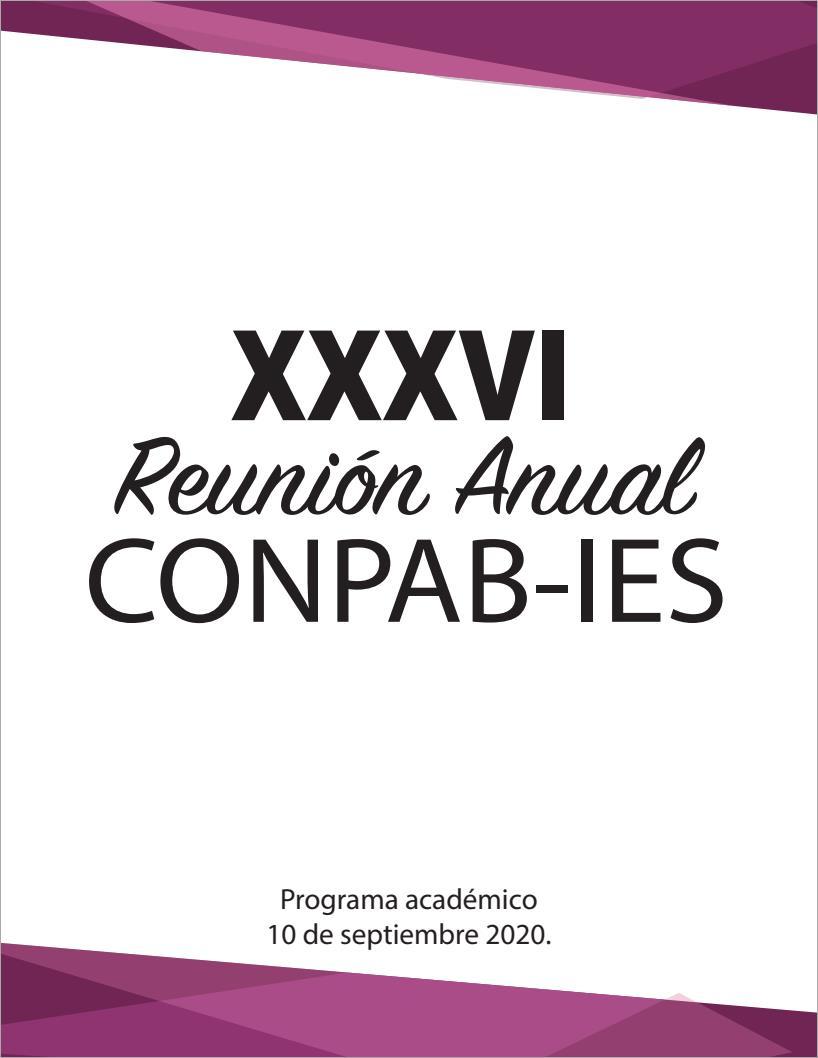 Portada del Programa Académico de la XXXVI Reunión Anual del CONPAB-IES, en la modalidad virtual